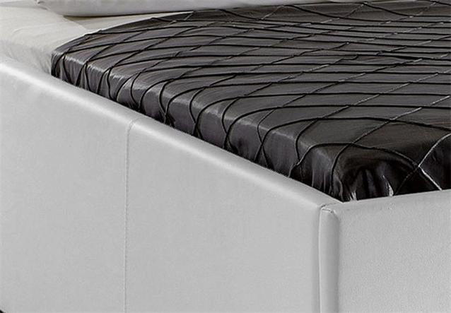 details about polsterbett myla iii bett in wei lederlook 180x200 cm. Black Bedroom Furniture Sets. Home Design Ideas