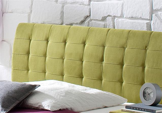 bett clip polsterbett mit kopfteil stoff in gr n 140x200 cm. Black Bedroom Furniture Sets. Home Design Ideas