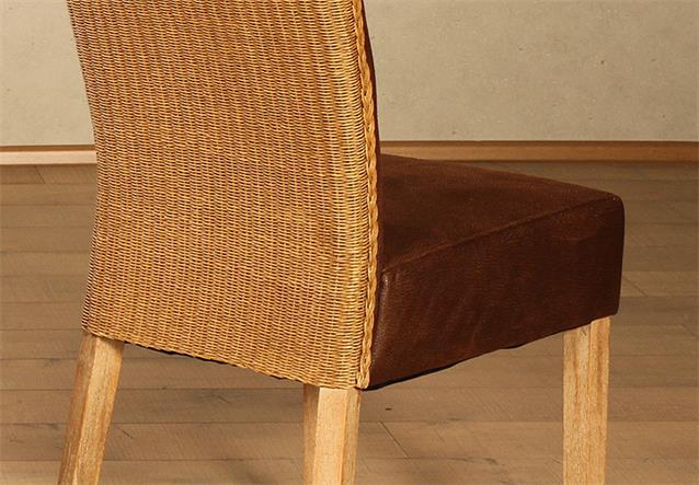 loom stuhl madrid 4er set polsterstuhl holzstuhl in braun und massiv smoke ebay. Black Bedroom Furniture Sets. Home Design Ideas
