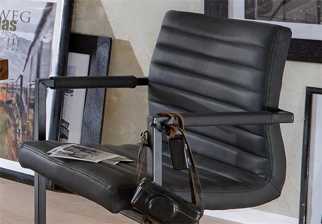 schwingstuhl parzival 6er set stuhl in anthrazit eisen. Black Bedroom Furniture Sets. Home Design Ideas