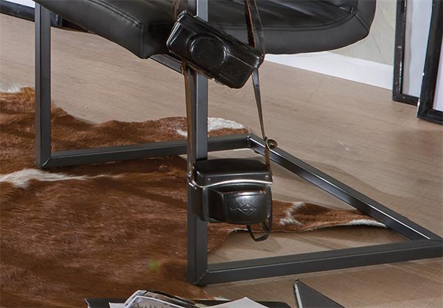 schwingstuhl parzival 4er set stuhl in anthrazit eisen. Black Bedroom Furniture Sets. Home Design Ideas