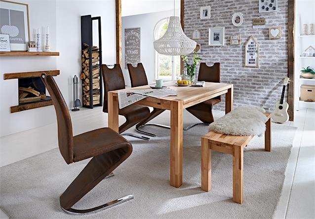 esstisch paul esszimmertisch tisch in kernbuche massiv lackiert 140 220x90 cm ebay. Black Bedroom Furniture Sets. Home Design Ideas