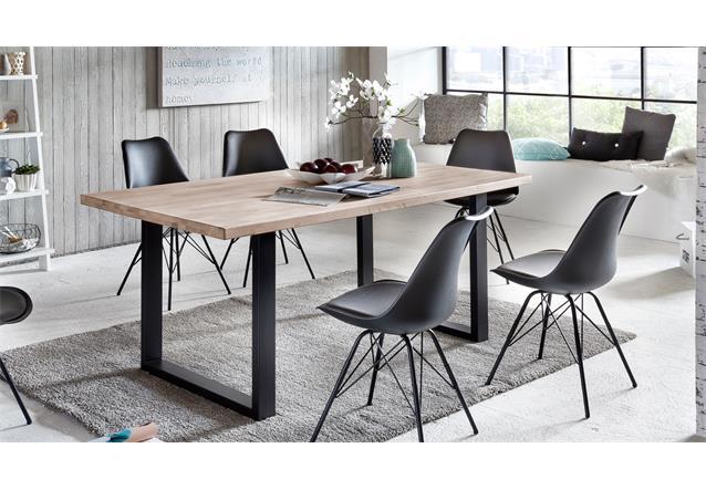 esstisch miami beach esszimmertisch tisch eiche massiv gek lkt eisen 180x90 cm. Black Bedroom Furniture Sets. Home Design Ideas