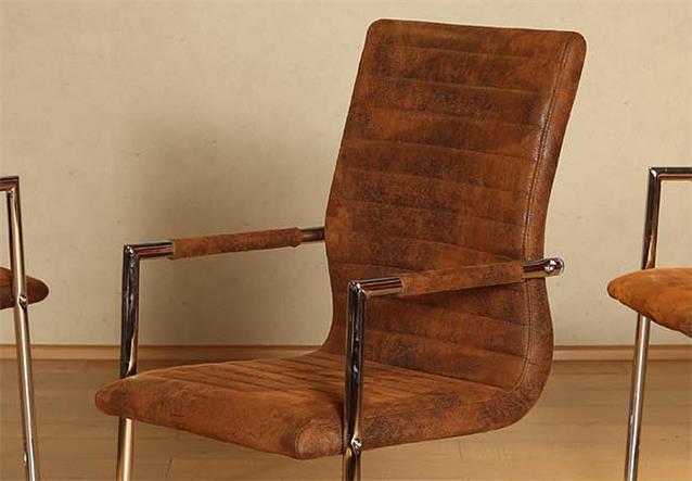 schwingstuhl astrid 6er set freischwinger stuhl in antik braun bielefeld. Black Bedroom Furniture Sets. Home Design Ideas