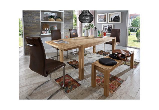 esstisch paulas esszimmertisch tisch eiche massiv ge lt ausziehbar 140 220x90. Black Bedroom Furniture Sets. Home Design Ideas