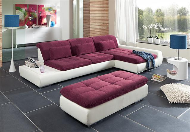 Wohnlandschaft spike sofa wohnzimmersofa ottomane rechts for Wohnlandschaft lila