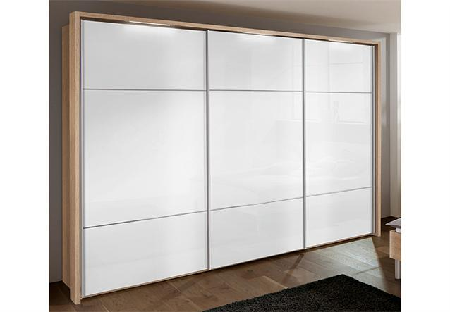 kleiderschrank marcato von nolte sonoma eiche wei glas b 300 cm ebay. Black Bedroom Furniture Sets. Home Design Ideas