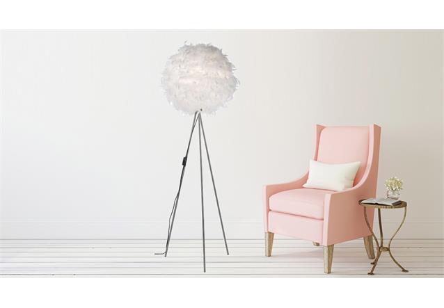 stehleuchte ducky standleuchte stehlampe stoffkugel mit. Black Bedroom Furniture Sets. Home Design Ideas