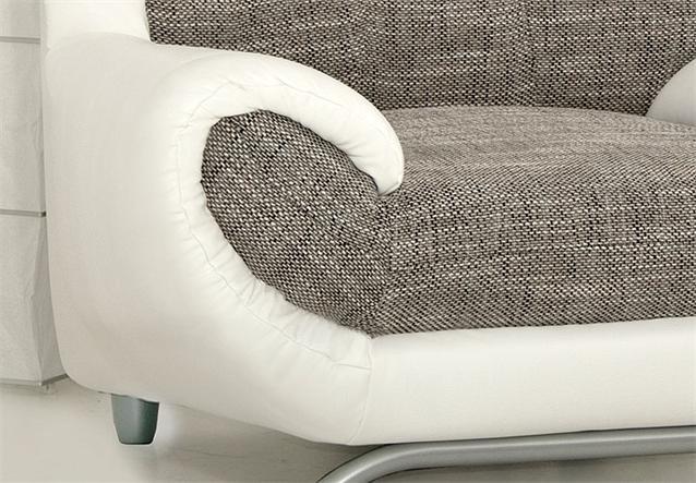 garnitur 3 2 1 sofa polstergarnitur artes in wei und. Black Bedroom Furniture Sets. Home Design Ideas
