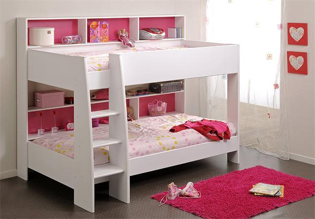 hochbett tam tam kinderbett etagenbett in wei mit leiter ebay. Black Bedroom Furniture Sets. Home Design Ideas