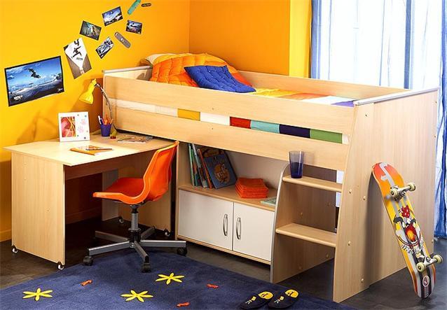 hochbett reverse jugendzimmer kinderbett in wei mit. Black Bedroom Furniture Sets. Home Design Ideas