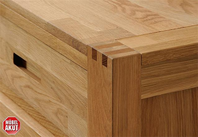 sideboard ethan kommode anrichte in eiche massiv ge lt 140 cm. Black Bedroom Furniture Sets. Home Design Ideas