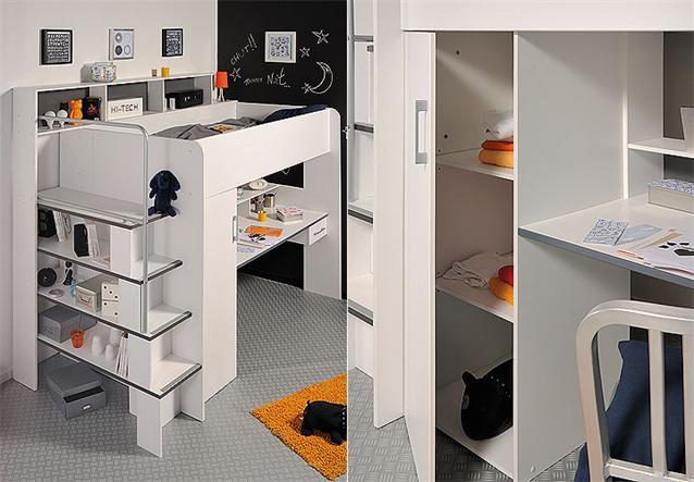 hochbett between etagenbett bett mit schreibtisch und. Black Bedroom Furniture Sets. Home Design Ideas