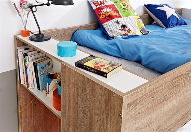 etagenbett stim hochbett kinderbett sonoma eiche wei mit kleiderschrank bielefeld. Black Bedroom Furniture Sets. Home Design Ideas