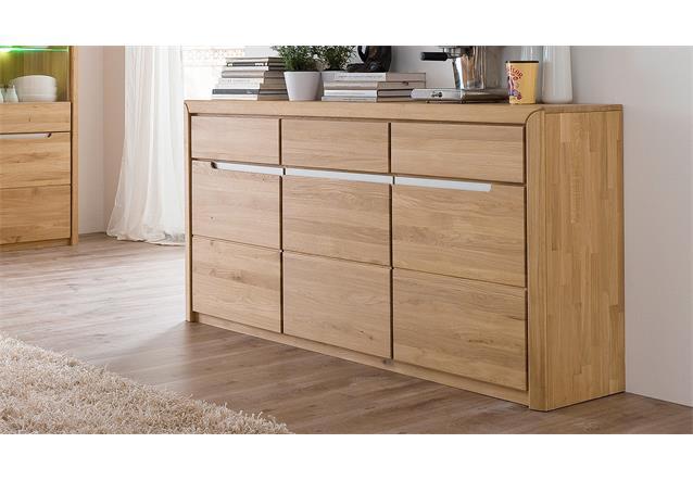 sideboard 2 florenz wildeiche bianco massiv ge lt und gewachst softclose ebay. Black Bedroom Furniture Sets. Home Design Ideas
