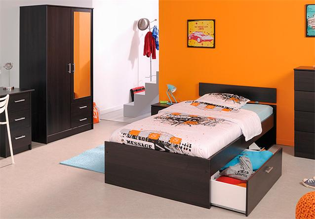 jugendzimmer 4 tlg infinity kinderzimmer schrank bett nako kaffee braun spiegel ebay. Black Bedroom Furniture Sets. Home Design Ideas