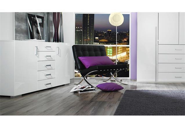 sideboard elan kommode anrichte schrank in wei hochglanz 144 bielefeld. Black Bedroom Furniture Sets. Home Design Ideas