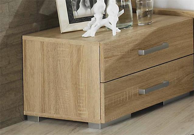 schlafzimmer set sonea bett schrank kommode sonoma eiche s gerau anthrazit ebay. Black Bedroom Furniture Sets. Home Design Ideas