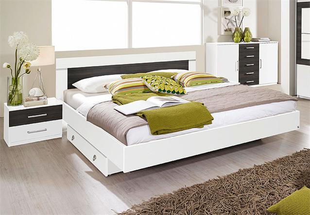 bettanlage venlo bett doppelbett nachtkommode in wei und. Black Bedroom Furniture Sets. Home Design Ideas