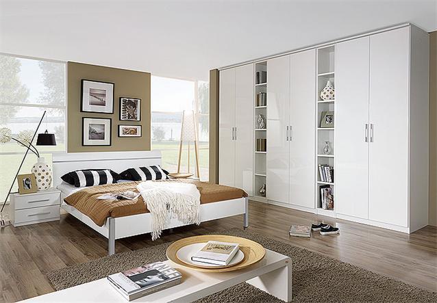 kleiderschrank modena schrank dreht renschrank regal wei hochglanz 339 ebay. Black Bedroom Furniture Sets. Home Design Ideas