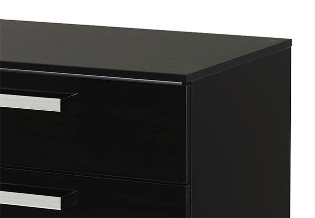 nachttisch 2 calero nachtkommode nako in schwarz und. Black Bedroom Furniture Sets. Home Design Ideas