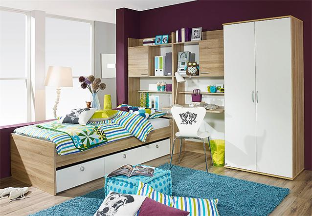 jugendzimmer set 2 emilio kinderzimmer komplett in sonoma. Black Bedroom Furniture Sets. Home Design Ideas