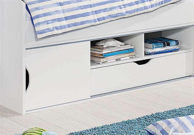 funktionsbett torben bett kinderzimmerbett jugendzimmerbett in wei 90x200 ebay. Black Bedroom Furniture Sets. Home Design Ideas