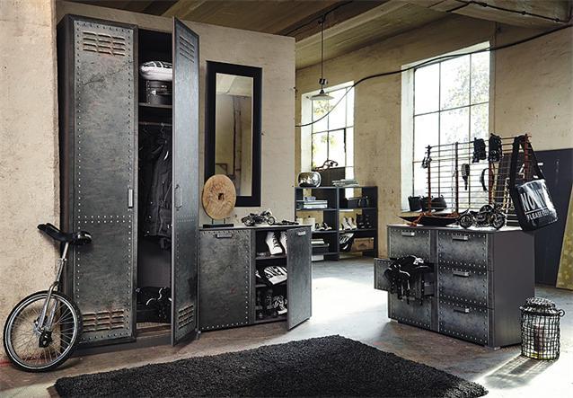 kommode workbase sideboard schrank anrichte industrie. Black Bedroom Furniture Sets. Home Design Ideas