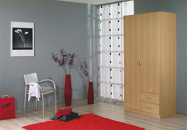kleiderschrank case schrank dreht renschrank in buche hell 90 cm ebay. Black Bedroom Furniture Sets. Home Design Ideas