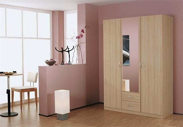 kleiderschrank case schrank dreht renschrank in buche natur und spiegel 136 cm ebay. Black Bedroom Furniture Sets. Home Design Ideas