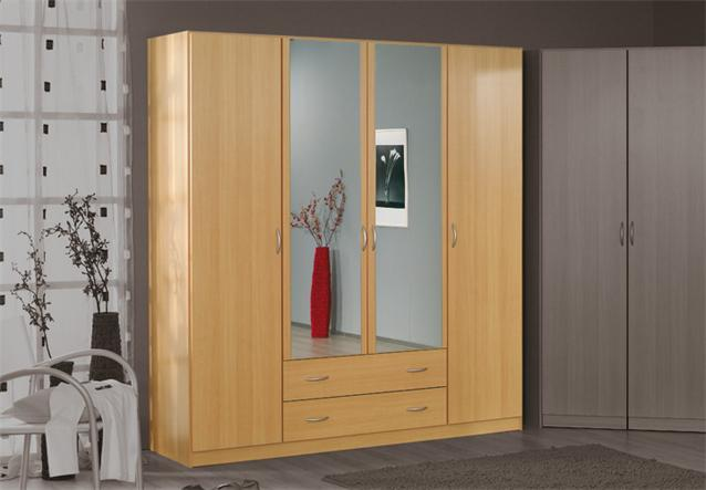 kleiderschrank case schrank dreht renschrank buche hell mit spiegel 181 cm ebay. Black Bedroom Furniture Sets. Home Design Ideas