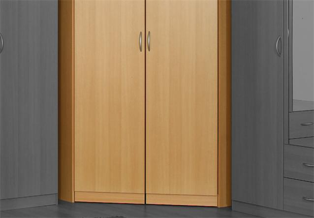 eckschrank case kleiderschrank schrank in buche hell 117 cm ebay. Black Bedroom Furniture Sets. Home Design Ideas