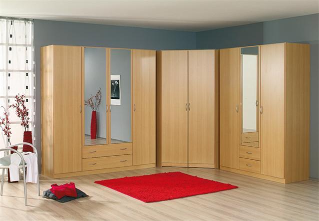 kleiderschrank kombi case schrank dreht renschrank buche hell spiegel ebay. Black Bedroom Furniture Sets. Home Design Ideas
