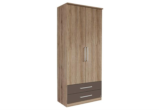 kleiderschrank potsdam schrank in san remo eiche hell lavagrau 91 ebay. Black Bedroom Furniture Sets. Home Design Ideas