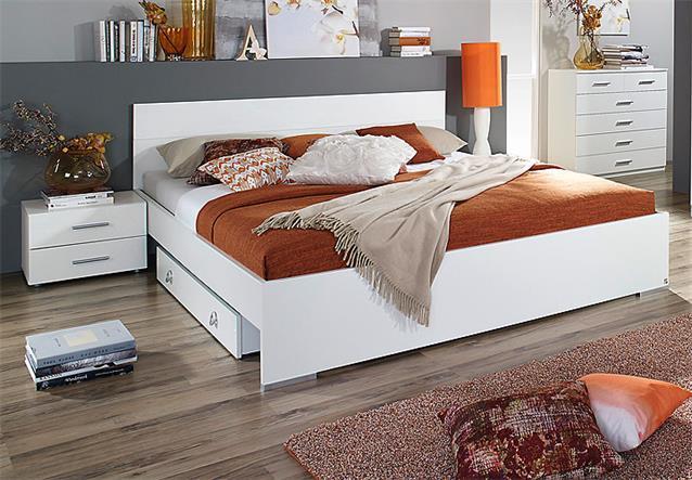 bettanlage lorca bett nako wei hochglanz 180x200 cm ebay. Black Bedroom Furniture Sets. Home Design Ideas