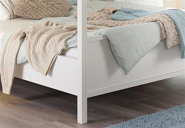 himmelbett marit bett schlafzimmer wei 180x200 cm ebay. Black Bedroom Furniture Sets. Home Design Ideas