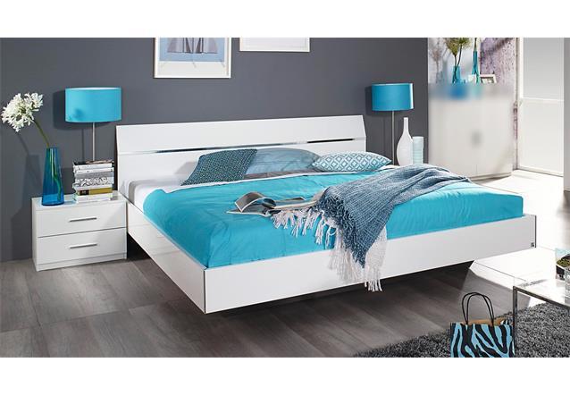 bettanlage starnberg bett nachtkommode schlafzimmerset wei hochglanz 180x200 ebay. Black Bedroom Furniture Sets. Home Design Ideas