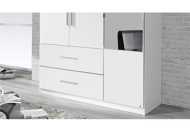 kleiderschrank alvor schrank dreht renschrank schlafzimmer wei spiegel 136 cm ebay. Black Bedroom Furniture Sets. Home Design Ideas