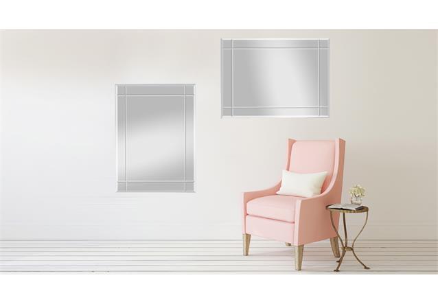 Wandspiegel spiegel jan 70x90 cm mit rillenschliff for Fenster 70x90