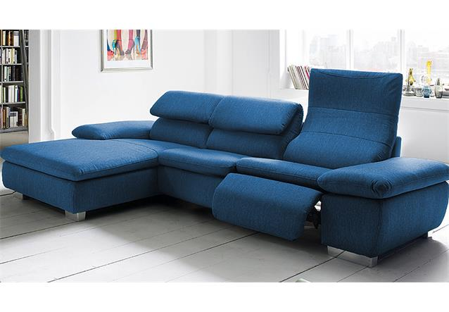 ecksofa texas wohnlandschaft sofa polstersofa grau oder blau mit relaxfunktion ebay. Black Bedroom Furniture Sets. Home Design Ideas