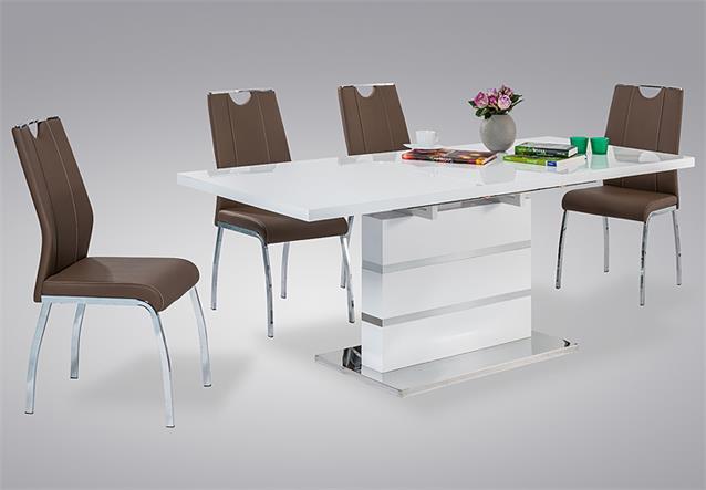 esstisch taipeh esszimmertisch tisch wei hochglanz. Black Bedroom Furniture Sets. Home Design Ideas