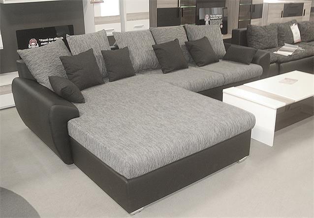 ecksofa ricardo sofa couch schwarz grau mit schlaffunktion. Black Bedroom Furniture Sets. Home Design Ideas