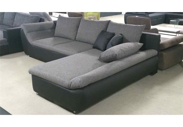 ecksofa solo grau schwarz 300x205 eckgarnitur mit schlaffunktion und bettkasten ebay. Black Bedroom Furniture Sets. Home Design Ideas