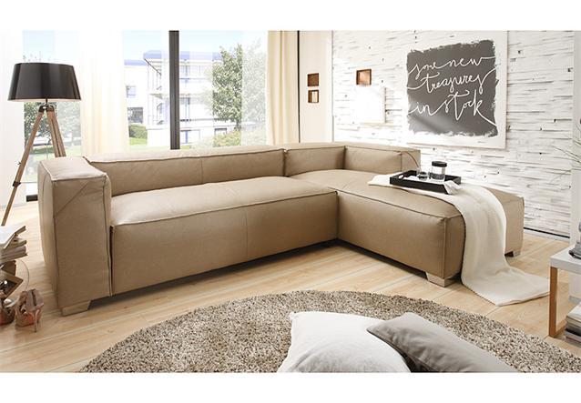 ecksofa cloe wohnlandschaft sofa in braun und grau mit federung ebay. Black Bedroom Furniture Sets. Home Design Ideas