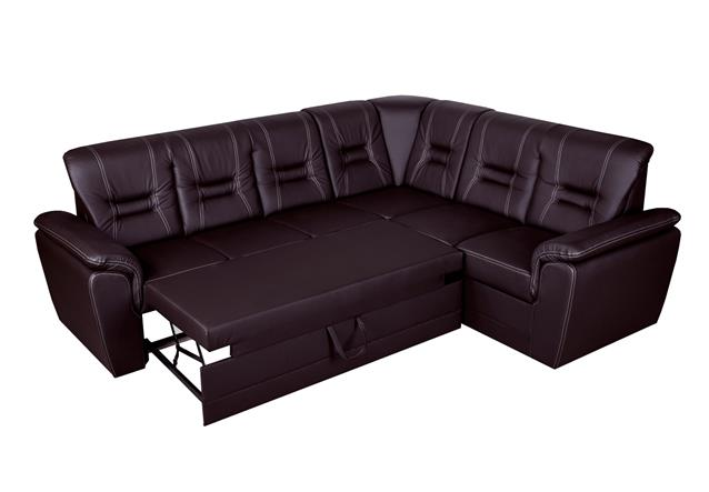 ecksofa tabitha couch mit relax schlaffunktion bettkasten dunkelbraun links lang ebay. Black Bedroom Furniture Sets. Home Design Ideas