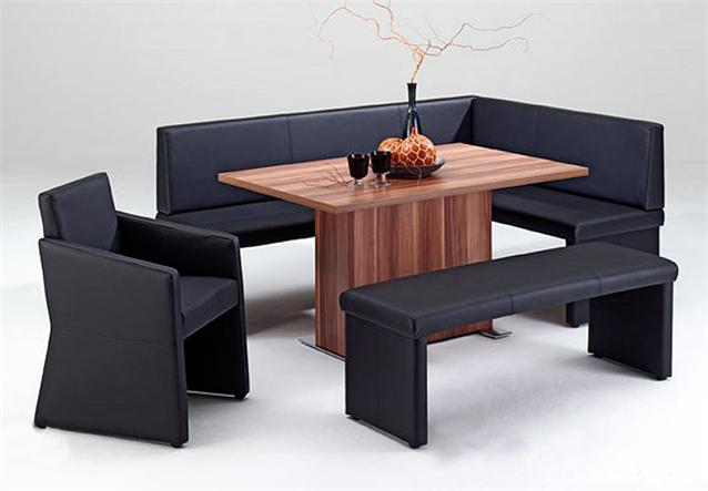 eckbank quadro eb 10 esszimmer polsterbank k chenbank schwarz 200x140 ebay. Black Bedroom Furniture Sets. Home Design Ideas