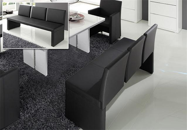 bank architect mit r ckenlehne esszimmer sitzbank in. Black Bedroom Furniture Sets. Home Design Ideas