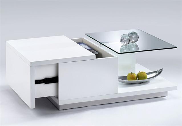 couchtisch torino beistelltisch tisch in weiss hochglanz lack und glas 90x60 cm ebay. Black Bedroom Furniture Sets. Home Design Ideas