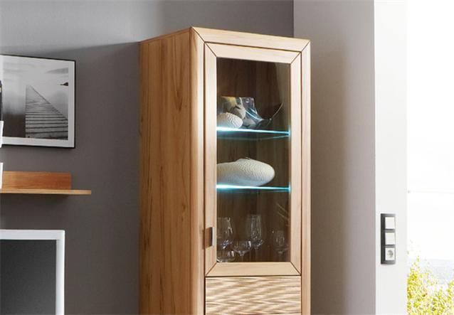 vitrine passepartout 07 r wohnzimmer schrank kernbuche massiv ebay. Black Bedroom Furniture Sets. Home Design Ideas