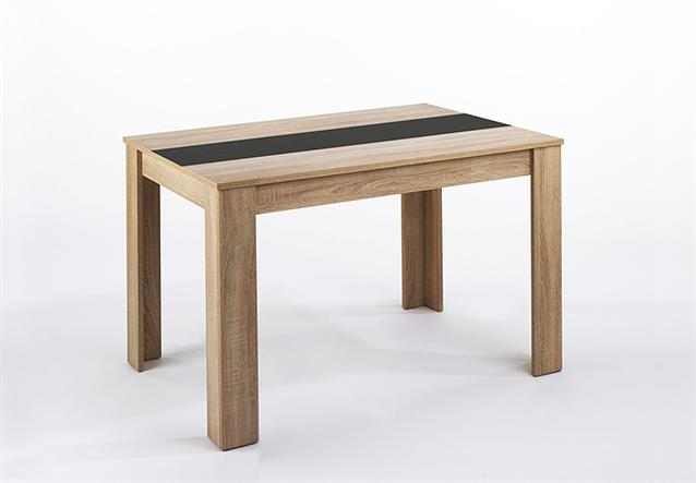 esstosch nico in eiche s gerau mittlere platte wahlweise schwarz oder wei 160. Black Bedroom Furniture Sets. Home Design Ideas
